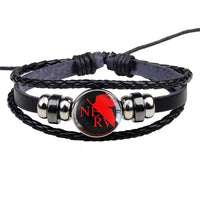 Evangelion fashion woven red logo bracelet. - Adilsons