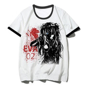 Evangelion O-Neck streetwear T-shirt. - Adilsons