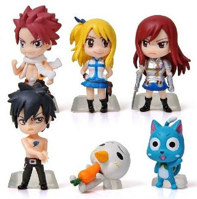 Fairy Tail 6-pcs./set Chibi figurines - Adilsons