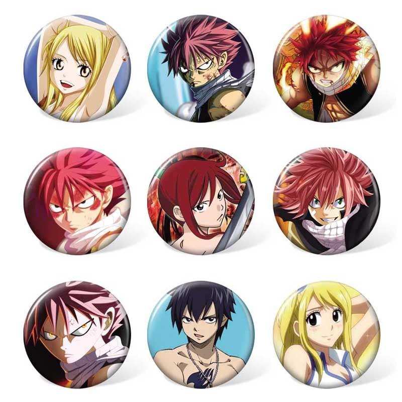 Fairy Tail Brooch (9pcs/set) - Adilsons