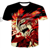 Fashion anime T-shirt with high-quality 3D print. - Adilsons