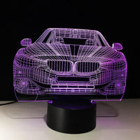 Fast and Furious creative 3D LED night lamp. - Adilsons