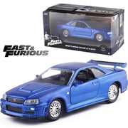 Fast and Furious metal GTR R34 Roadster model car. - Adilsons