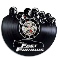 Fast and Furious vinyl luminous wall clocks. - Adilsons