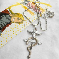 Fullmetal Alchemist coiled necklace with pendant. - Adilsons