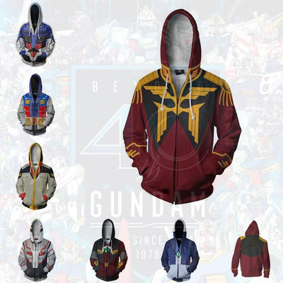 GUNDAM style hoodies with hood. - Adilsons