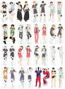 Haikyuu bright and stylish body pillow case. - Adilsons