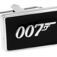 James Bond 007 cufflinks black color. - Adilsons