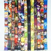 Japanese anime-neck strap with a colorful logo. - Adilsons