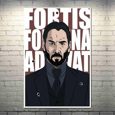 John Wick canvas poster for living room. - Adilsons