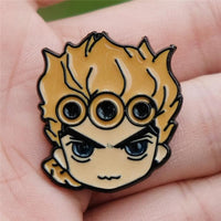 JoJo Adventure metal pin badge. - Adilsons