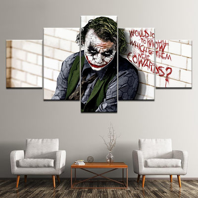 Joker 5 pieces wall art painting. - Adilsons