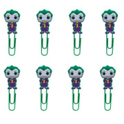 Joker bookmark for books paper clips 8pcs. - Adilsons