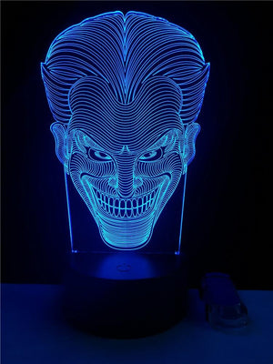Joker USB LED 3D Multicolor night lights. - Adilsons