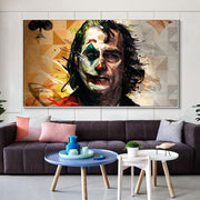 Joker wall decoration watercolor painting. - Adilsons