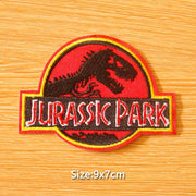 Jurassic Park clothes sticker badge. - Adilsons
