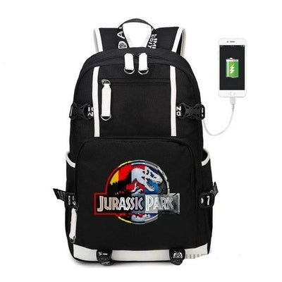 Jurassic Park multifunction USB backpack. - Adilsons