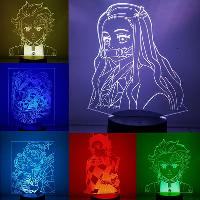 Kimetsu no Yaiba 3D color night light. - Adilsons