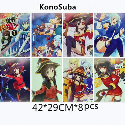 Konosuba wonderful paintings 8 pcs/lot. - Adilsons