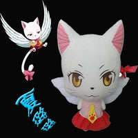 Large 58cm Anime Fairy Tail Charles Lulu Plush Toy Kawaii Happy & Charles Cat Stuffed Animals Doll Figure Cosplay Toys Kids Gift - Adilsons