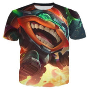 League of Legends 3D Printed short sleeve T-Shirts. - Adilsons