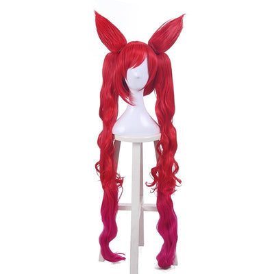 League of Legends cosplay long red wig. - Adilsons