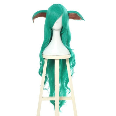 League of Legends Soraka green cosplay wigs. - Adilsons