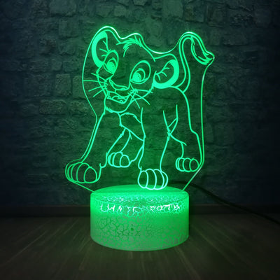 Lion King 3D multicolor USB night light. - Adilsons