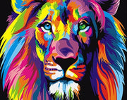 Lion King colorful Lion painting by numbers. - Adilsons