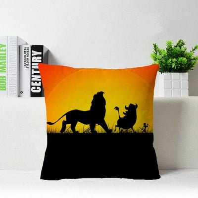 Lion King decorative zippered pillow case. - Adilsons
