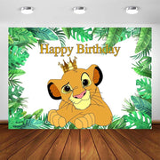 Lion King party decorations background. - Adilsons