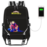 My Hero Academia with USB port backpack. - Adilsons