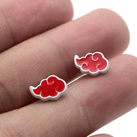 Naruto: Akatsuki cloud and Uchiha Symbol earrings - Adilsons
