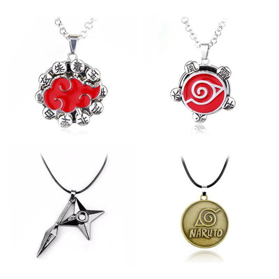 Naruto Cool Pendants Akatsuki Cloud, Konoha and others - Adilsons