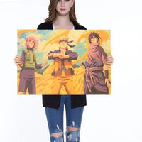 Naruto paintings on kraft paper. - Adilsons