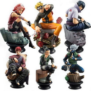 Naruto PVC anime figures (6pcs/set). - Adilsons
