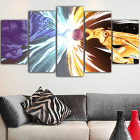 Naruto Sasuke Vs Naruto Final Class Wall Art 5pcs - Adilsons