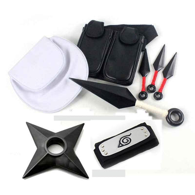 Naruto: Shuriken, kunai and headband with pouch - Adilsons