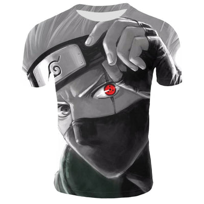 Naruto T-shirt with a bright and high-quality 3D pattern. - Adilsons