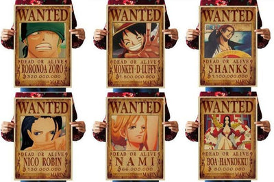One Piece home decor wall posters 51.5x36cm. - Adilsons