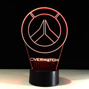 Overwatch 3D light USB night lamp. - Adilsons