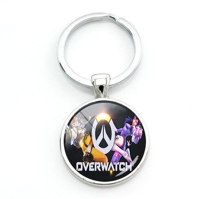Overwatch stylish glass keychain. - Adilsons