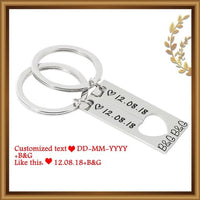 Personalized Couples Keychain with date and initials - Adilsons