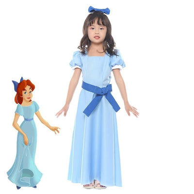 Peter Pan blue dress Wendy costume. - Adilsons
