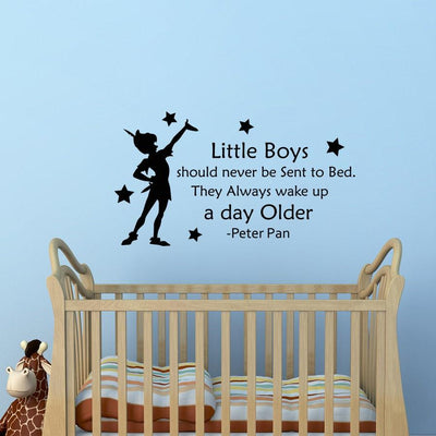 Peter Pan decor sticker for kids room. - Adilsons
