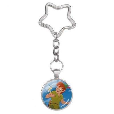 Peter Pan glass keychain. - Adilsons