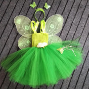 Peter Pan stylish green dress Tinkerbell. - Adilsons