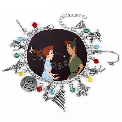 Peter Pan Tinkerbell charm bracelet. - Adilsons