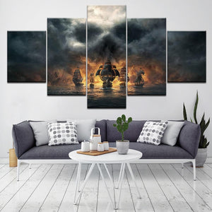 Pirates of the Caribbean canvas painting 5 pieces. - Adilsons