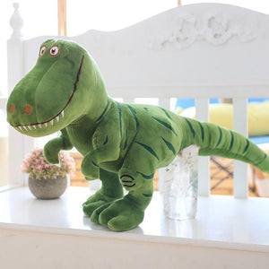 Plush dinosaurs are soft and cuddly. - Adilsons